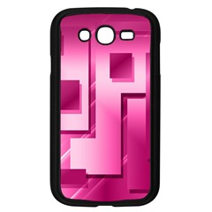 Pink Figures Rectangles Squares Mirror Samsung Galaxy Grand Duos I9082 Case (black)