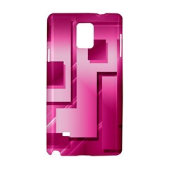 Pink Figures Rectangles Squares Mirror Samsung Galaxy Note 4 Hardshell Case