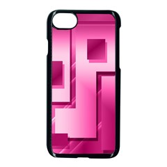 Pink Figures Rectangles Squares Mirror Apple Iphone 8 Seamless Case (black)