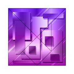 Purple Figures Rectangles Geometry Squares Acrylic Tangram Puzzle (6  X 6 )