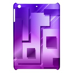 Purple Figures Rectangles Geometry Squares Apple Ipad Mini Hardshell Case