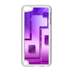 Purple Figures Rectangles Geometry Squares Apple Ipod Touch 5 Case (white)