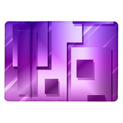 Purple Figures Rectangles Geometry Squares Samsung Galaxy Tab 10 1  P7500 Flip Case
