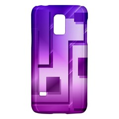 Purple Figures Rectangles Geometry Squares Galaxy S5 Mini