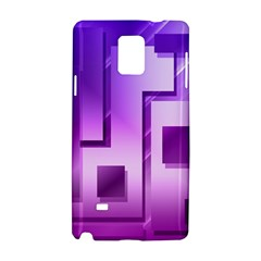 Purple Figures Rectangles Geometry Squares Samsung Galaxy Note 4 Hardshell Case