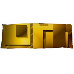 Yellow Gold Figures Rectangles Squares Mirror Body Pillow Case (dakimakura)