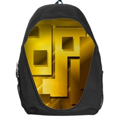 Yellow Gold Figures Rectangles Squares Mirror Backpack Bag