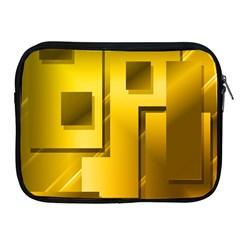Yellow Gold Figures Rectangles Squares Mirror Apple Ipad 2/3/4 Zipper Cases