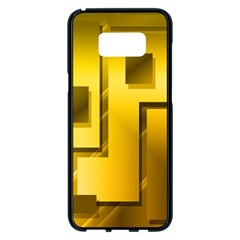 Yellow Gold Figures Rectangles Squares Mirror Samsung Galaxy S8 Plus Black Seamless Case