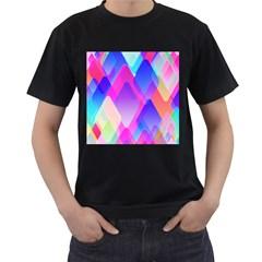 Squares Color Squares Background Men s T Shirt (black)