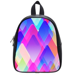 Squares Color Squares Background School Bag (small) by Sapixe