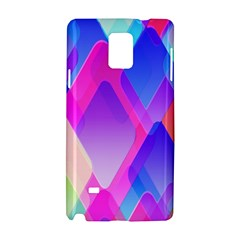 Squares Color Squares Background Samsung Galaxy Note 4 Hardshell Case