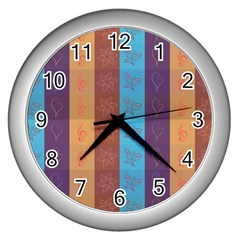 Background Desktop Squares Wall Clocks (silver)  by Sapixe