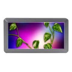 Leaves Green Leaves Background Memory Card Reader (mini)