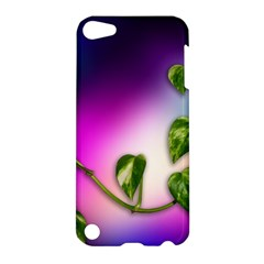 Leaves Green Leaves Background Apple Ipod Touch 5 Hardshell Case by Sapixe
