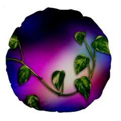Leaves Green Leaves Background Large 18  Premium Round Cushions by Sapixe