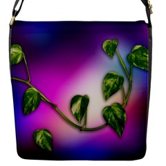 Leaves Green Leaves Background Flap Messenger Bag (s)