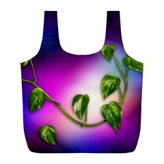 Leaves Green Leaves Background Full Print Recycle Bags (l)