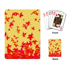 Leaves Autumn Maple Drop Listopad Playing Card by Sapixe