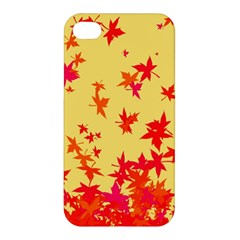 Leaves Autumn Maple Drop Listopad Apple Iphone 4/4s Hardshell Case