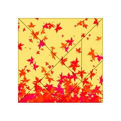 Leaves Autumn Maple Drop Listopad Acrylic Tangram Puzzle (4  X 4 )