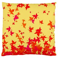 Leaves Autumn Maple Drop Listopad Large Cushion Case (two Sides)