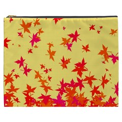 Leaves Autumn Maple Drop Listopad Cosmetic Bag (xxxl)