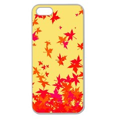 Leaves Autumn Maple Drop Listopad Apple Seamless Iphone 5 Case (clear) by Sapixe