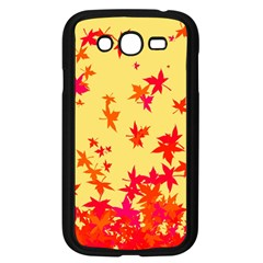 Leaves Autumn Maple Drop Listopad Samsung Galaxy Grand Duos I9082 Case (black)
