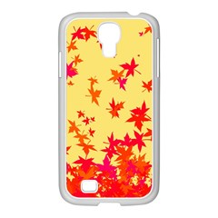 Leaves Autumn Maple Drop Listopad Samsung Galaxy S4 I9500/ I9505 Case (white)