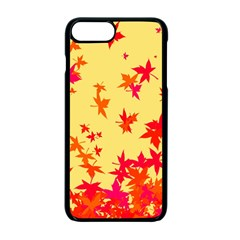Leaves Autumn Maple Drop Listopad Apple Iphone 7 Plus Seamless Case (black) by Sapixe
