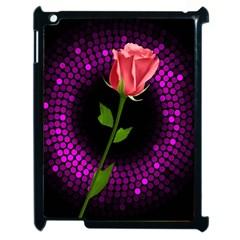 Rosa Black Background Flash Lights Apple Ipad 2 Case (black)