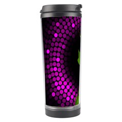 Rosa Black Background Flash Lights Travel Tumbler