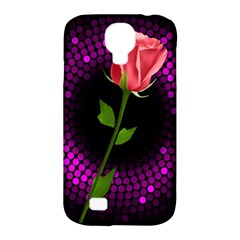 Rosa Black Background Flash Lights Samsung Galaxy S4 Classic Hardshell Case (pc+silicone)