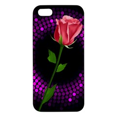 Rosa Black Background Flash Lights Iphone 5s/ Se Premium Hardshell Case