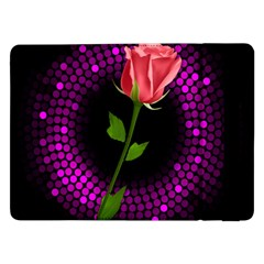 Rosa Black Background Flash Lights Samsung Galaxy Tab Pro 12 2  Flip Case
