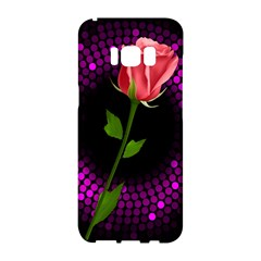 Rosa Black Background Flash Lights Samsung Galaxy S8 Hardshell Case