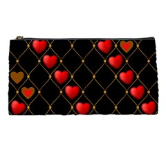 Background Texture Texture Hearts Pencil Cases by Sapixe