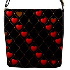 Background Texture Texture Hearts Flap Messenger Bag (s)