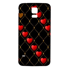 Background Texture Texture Hearts Samsung Galaxy S5 Back Case (white)