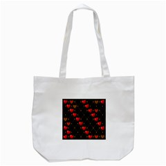 Background Texture Texture Hearts Tote Bag (white)