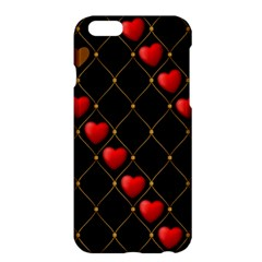 Background Texture Texture Hearts Apple Iphone 6 Plus/6s Plus Hardshell Case