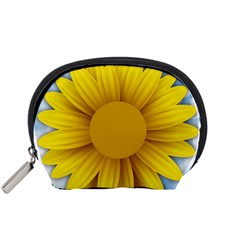 Plant Flower Flowers Bokeh Sky Accessory Pouches (small)  by Sapixe