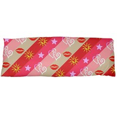 Background Desktop Pink Sun Stars Body Pillow Case Dakimakura (two Sides)