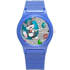 Illustration Celebration Easter Round Plastic Sport Watch (s)