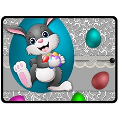 Illustration Celebration Easter Double Sided Fleece Blanket (large)
