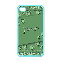 Card I Love You Heart Romantic Apple Iphone 4 Case (color)