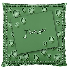 Card I Love You Heart Romantic Large Cushion Case (two Sides)