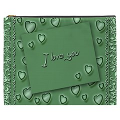 Card I Love You Heart Romantic Cosmetic Bag (xxxl)