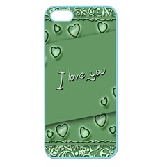 Card I Love You Heart Romantic Apple Seamless Iphone 5 Case (color)